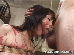 Japanese gal covered in wax in pain and pleasure