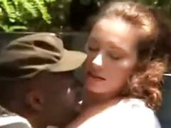 Mry - white slut fucked by black farm help