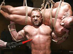 whipping, bound, domination, slaves, rope bondage, gay hunks, electric shocks, masters, bound gods, kink men, jessie colter, trenton ducati, dirk caber
