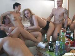 Wild czech home orgy party