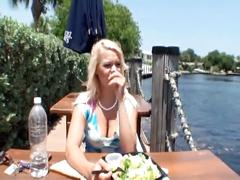 Chubby blonde fucked on vacation...usb
