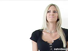 Gorgeous blonde fucked by the casting manager