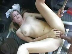 Teen daughter hatefucked hard in her ass