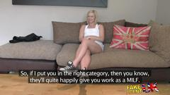 Fakeagentuk amateur milf casting deep throat wet...