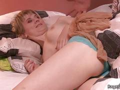 Blonde cheater's throat payback