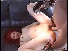 Redhead hottie loves a big cock