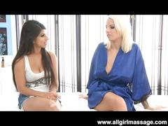Lylith and layla's slit massage
