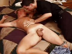 Horny gay stud police fucking sweet stud cum hungry mouth