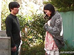 handjob, babe, japanese, outside, blowjob, fingering, censored, black hair, outdoor jp, all japanese pass, ayumi shinjyou