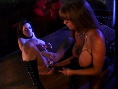 Hot lesbians using their toys & tongues