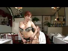 Mature redhead stockings and garterbelt
