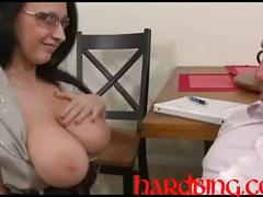 Monsters of jiz blast my big tits 6