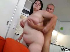 Horny guy bangs bbw