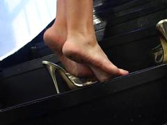 Donna dirty foot fetish
