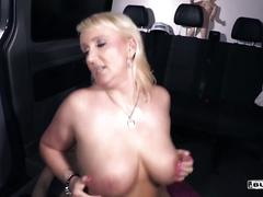 Bums bus - german milf fucks in the bus for money