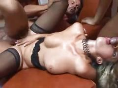 Perfect dp slut takes it well