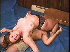 Big boobed bbw mixed wrestling pt 2