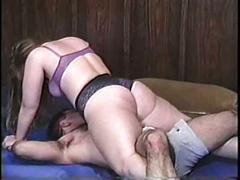 Big boobed bbw mixed wrestling pt 1