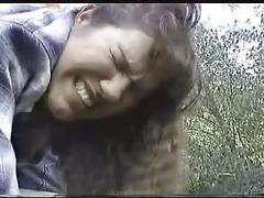 Fatty spanked on the farm
