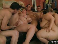 Group bbw orgy at the bar
