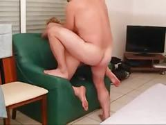 Horny mature with three cocks