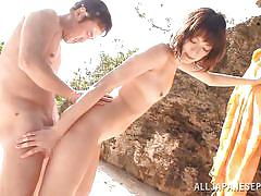 small tits, japanese, outdoor, blowjob, pussy licking, from behind, censored, asian babe, outdoor jp, all japanese pass, mikoto tsukawa