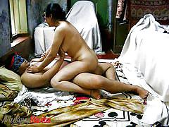 Masked indian couple gets sensual