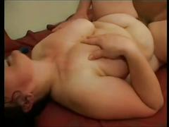 Big milf with hairy pussy licked and fucked by young
