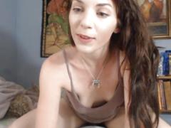 Natural girl and her dildo