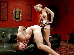 anal, strapon, domination, tied up, blonde milf, big breasts, ball gag, rope bondage, divine bitches, kink, cherry torn, kip johnson