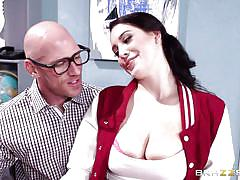 Nerdy teacher got his hand on a pair of premium tits