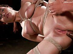 Little slut gets brutally fucked in her butt