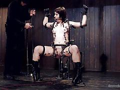 bondage, babe, boots, domination, piercing, fetish, fucking machine, clamps, device bondage, kink, katharine cane, orlando