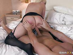 milf, blonde, maid, stockings, blowjob, foot job, ass fucking, big breasts, big butts like it big, brazzers network, kagney linn karter, keiran lee