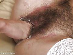 Teen fists a hairy mature