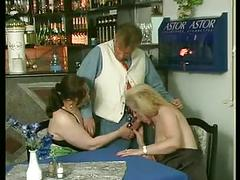 Two bbw matures fucked in the restaurant