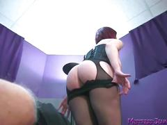 Mistress femdom whipping, cock burning and squirt gargle