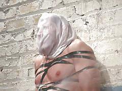 Gay hunk endures water torture
