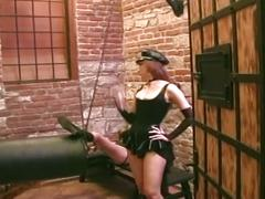 Lesbian dungeon divas at play