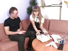 Mirelle - hot russian bonde teen fucked