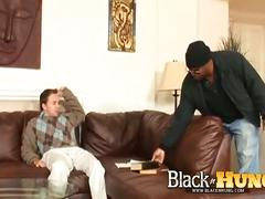 Black burglar whacking tight white ass