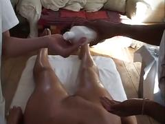 British georgina smith gets massaged by lesbians