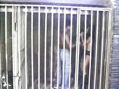Indian girl behind bars