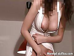 sicflics.com, busty, big-tits, carrot, vegetable, dildo, toy, object, bizarre, amateur, slut, gaping, ass, insertion, heels, shaved