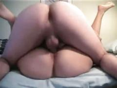 Horny chubby ex girlfriend fucking and getting a creampie