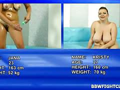 Bbw fight club video featuring fat wrestlers jana and kristy
