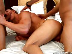 Cameron, brody and johnny cum threesome