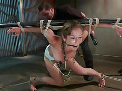 Felony is tied to a bar and gagged