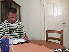 Wife's mommy caught me jerking at her