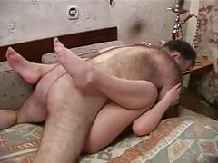 Old hairy man fuck son's gf